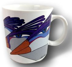 Laurel Burch Mug, Coffee Mug, Best Friend Mug Best Friend Mug, Friend Mugs, Best Friends, Vintage Coffee Cups, Unique Coffee Mugs, Laurel Burch, Tropical Birds, Mug Designs, Vintage Items