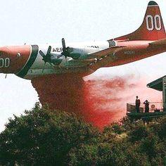 Fire retardant drop in Colorado springs