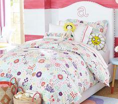 Margherita Missoni for Pottery Barn Kids Floral Duvet Cover // pink floral girls bedroom, pink floral bedding