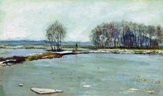 """И. И. Левитан """"Ранняя весна"""" 1898"""