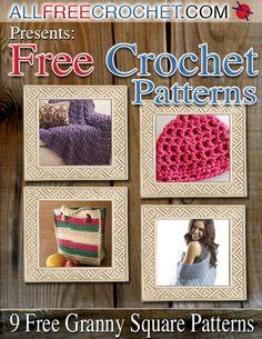 How to Crochet Granny Squares: 9 Free Crochet Afghan Patterns | AllFreeCrochet.com