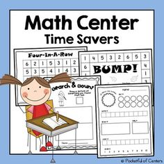 Math Center Time Savers is a collection of printable number recognition and counting activities to use in your Math Center. The games focus on the number 1-30.