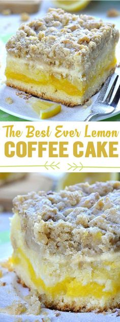 Coffee Cake Lemon Coffee Cake is delicious, moist, sweet and tangy breakfast or snack cake, but also very satisfying dessert. Bursting with lemon flavor, this coffee cake is perfect spring and summer treat.Delicious Delicious may refer to: Menu Desserts, Brownie Desserts, Lemon Desserts, Lemon Recipes, Easy Desserts, Sweet Recipes, Baking Recipes, Delicious Desserts, Cake Recipes