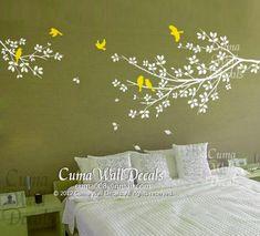 Tree and bird wall decals Nursery wall sticker Branch by cuma, $45.00