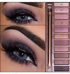 Tutoriel de Maquillage : Urban decay palette I know the pic is blue eyed but this would look great. Kiss Makeup, Love Makeup, Makeup Inspo, Makeup Inspiration, Hair Makeup, Makeup Eyebrows, Revlon Makeup, Makeup Geek, Makeup Eyeshadow