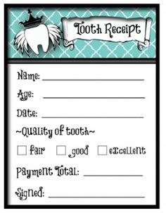 Free Printable Tooth Fairy Letters, Invoice, Certificate and Receipt | Munchkins and Mayhem