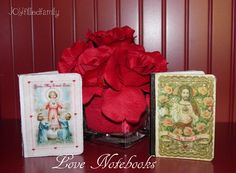 love notebooks - great for daily examination of conscience and confession