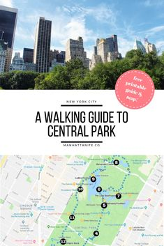 Central Park is huge, so it can be a good idea to have a plan whenever you're visiting this marvelous gem. Check out my free printable guide & map here! park A Walking Guide To Central Park New York City Vacation, New York City Travel, Montezuma, Monteverde, Central Park Map, Places To Travel, Travel Destinations, Tavern On The Green, Bethesda Fountain