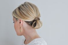 the loop updo hair tutorial