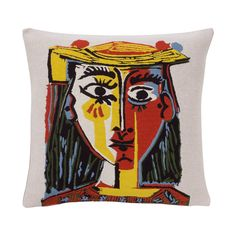 Picasso Cushion Cover - Portrait of A Woman with A Hat