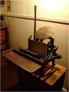 Vintage printing press.