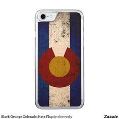 Black Grunge Colorado State Flag