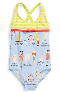 Mini Boden 'Hotchpotch' One-Piece Swimsuit (Toddler Girls) available at #Nordstrom