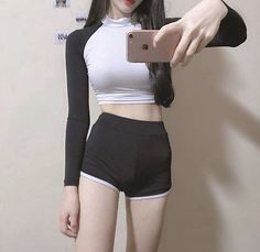 ( *`ω´) If you don't like what you see❤, please be kind and just move along. Asian Fashion, Girl Fashion, Womens Fashion, Korean Girl, Asian Girl, Kpop Outfits, Girl Body, Ulzzang Girl, Sexy Hot Girls