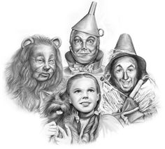 Sketch of the Day: Characters of the 1939 film The Wizard of Oz