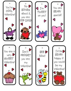 FREE Valentine Bookmark Printable.  For more #Valentine Freebies, click here.