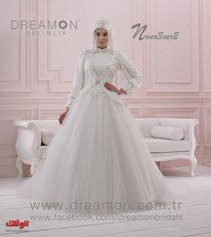 احدث فساتين زفاف محجبات محتشبه 2014 موديلات فساتين عرايس حجاب شيك, fasten zefaf mohgbat