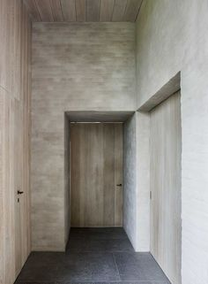 Oak, rendered brick and Belgian natural stone make for a traditional atmosphere. B-S Residence by Vincent van Duysen.:
