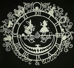 Alice and the White Rabbit- Papercut DIY Template