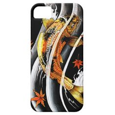 Cool oriental japanese Gold Lucky Koi Fish tattoo iPhone 5 Cases