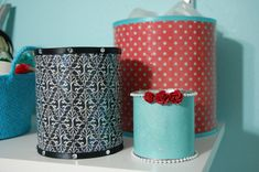 tin coffee can makeover. I just made two of these!! Hooray!