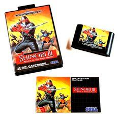 Sega Mega Drive Spiel Shinobi 3 Return of the Ninja Master in OVP