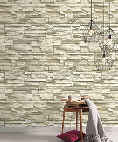 Natural Stacked Stone Peel & Stick Wall Decals | zulily