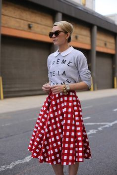 Graphic Gingham ( Sweaters & Graphic Skirts )