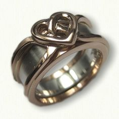 14kt Rose Gold Celtic Heart Reverse Cradle