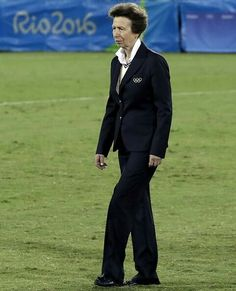 Britain's Princess Anne attended the medal ceremony for the Men's Rugby Sevens on the sixth day of the Rio 2016 Olympic Games at Deodoro Stadium on August 11, 2016 in Rio de Janeiro, Brazil. Fiji wins first Olympic gold medal with win over Britain.
