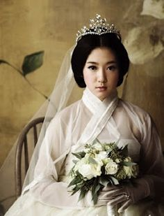 Fusion Hanbok - touch of modern with a blingy tiara!