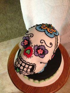 Birthday Cake Photos - Dia de la Muerte Cake