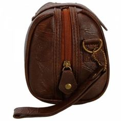 PU Leather Wrist Bag This fashionable women's wrist bag made out of PU Leather comes in a beautiful brown color .