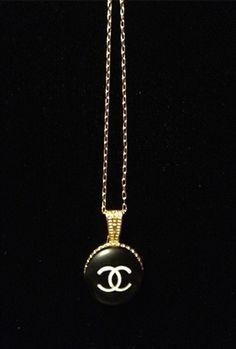 Vintage Chanel Logo Necklace