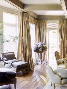 I love the dramatic and elegant look of floor length drapes