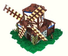 Here are some nice LEGO versions of essential medieval buildings from Age of Empires II by a group of LEGO enthusiasts. An Archery Range by Mark of Falworth and Barracks by Andrew JN above, and a few more below. Age Of Empires, Lego Age, Lego Castle, Building An Empire, Lego Models, The Brethren, Lego Brick, Lego Creations, Legos