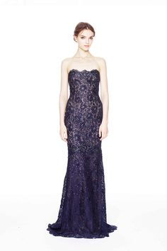 Pre-Fall 2014  - I LOVE the detail on this dress! Also, what a beautiful color! #Marchesa