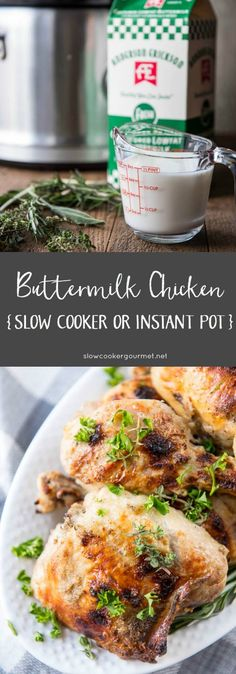 Delicious Buttermilk Chicken is a simple and quick weeknight family dinner that can be made in the slow cooker or Instant Pot! Delicious Buttermilk Chicken is a simple and quick weeknight family dinner that can be made in the slow cooker or Instant Pot! Crock Pot Slow Cooker, Crock Pot Cooking, Slow Cooker Chicken, Instant Recipes, Instant Pot Dinner Recipes, Recipes Dinner, Recipe Using Chicken, Chicken Recipes, Chicken Meals