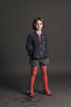 Oliver + S puppet show shorts and bright tights? // noaddedsugar.com