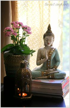 ...time and again I'm enticed by the striking simplicity and exotic charm that surrounds the Asian décor. By including elements like the Buddha himself, a hand mudra, thangka painting or an unpretentious orchid, the central objective is to bring ZEN vibes to my home and in the process create a space that helps sustain my spirit and soul.