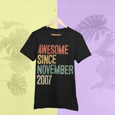 Awesome 2007 T-Shirt 12th Birthday Gift ideas T-Shirt For 12 Year Old Boys Girls