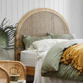 Look what i found on Temple Wooden Bed Base, Rattan Headboard, Headboards, Green Bedding, Bedding Shop, Cheap Furniture, Rattan Furniture, Bedroom Furniture, Decoration