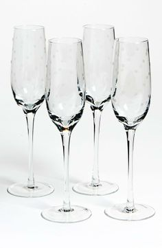 Clink, clink! Cute Kate Spade champagne glasses.