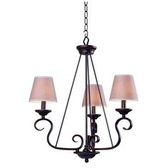 Kenroy Home 93113ORB Basket 3 Light Chandelier in Oil Rubbed Bronze