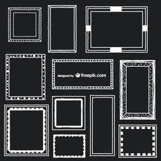 Doodle Frames, Art Frames, Black And White Frames, Photo Corners, School Signs, Last Day Of School, Modern Kids, Wedding Frames, Message Card