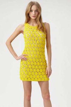 Znalezione obrazy dla zapytania modelo de vestido de croche