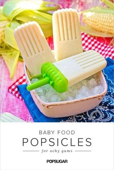 Attractive fashion news magazine : 10 Baby Food Popsicles Sure to Soothe a Teething Tot Baby Food Popsicles, Raspberry Popsicles, Banana Popsicles, Watermelon Popsicles, Smoothie Popsicles, Homemade Popsicles, Smoothies, Oatmeal Yogurt, Strawberry Oatmeal