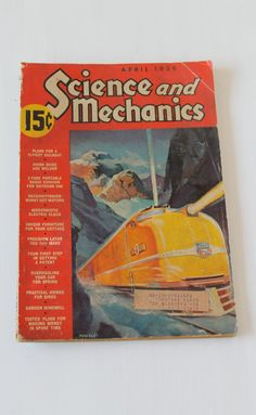 Build a sailboat, a garden windmill, or furniture for your summer cottage with this 1939 issue of Science and Mechanics. $5.00, via Etsy.