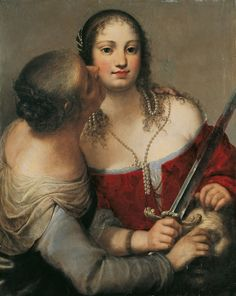 "Girolamo Forabosco, ""Judith with the Head Holofernes,"" c.1654, Oil on wood,86 x 68.3 cm, Lempertz Auction house 11/17/2007 (Lot 1176)"