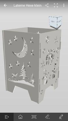Laternen Entwurf sicht 2 Seiten Lanterns, Mockup